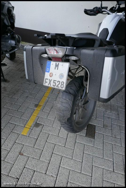 Michelin Anakee 3 auf R 1200 GS nach Nässetest