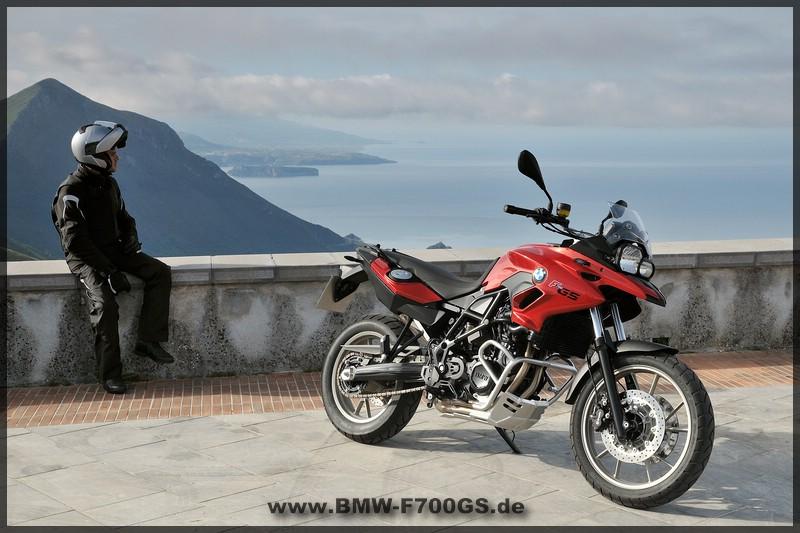 BMW F 700 GS - rechte Seite - Rot