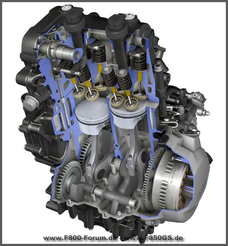 Bild vom Motor der F 850 GS + F750 GS