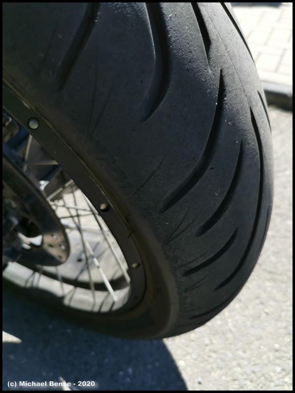 Bridgestone T 31 - angefahren - hinten