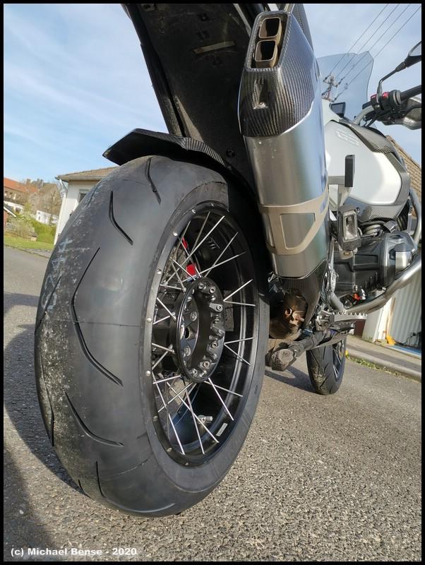Hinterrad - Dunlop Sportsmart TT - neu auf R 1250 GSA