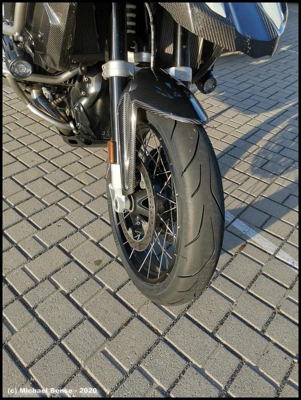 Vorderrad Dunlop Sportsmart TT auf R 1250 GS Adventure