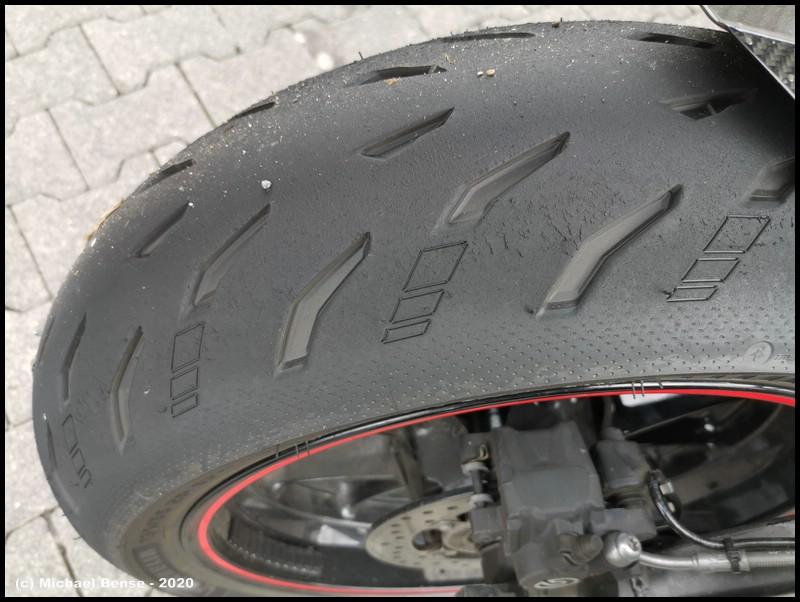 Michelin Power 5 - hinten - nach Fahrt mit S 1000 R