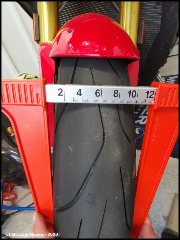 Reifenbreite - Messung Dunlop Sportsmart TT