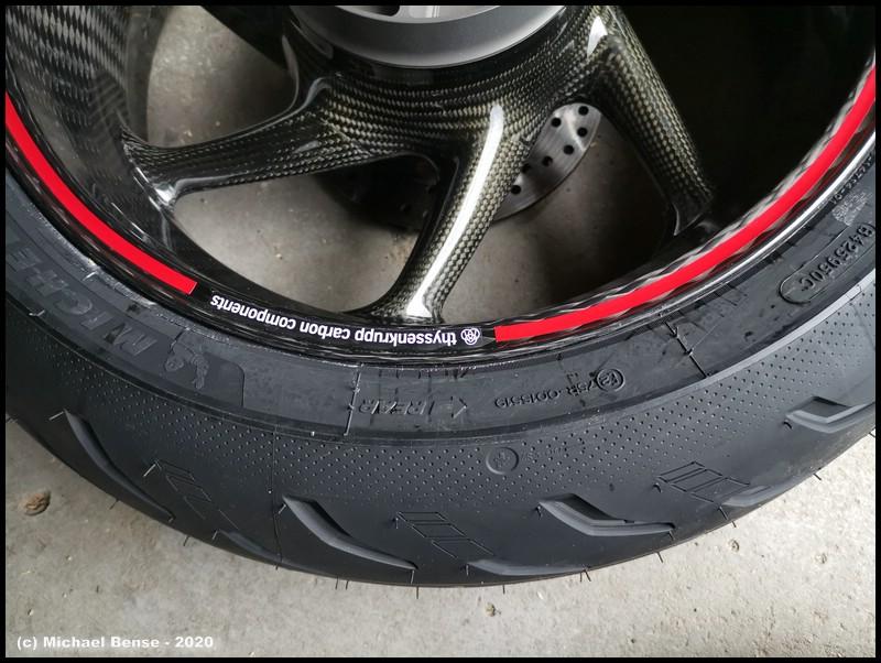 Michelin Power 5 auf Thyssenkrupp Carbonrad - hinten