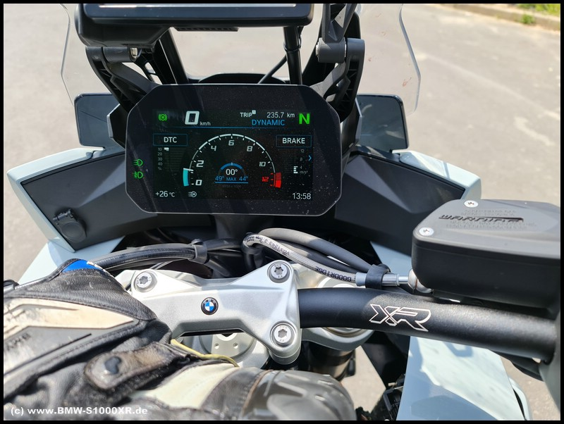 Cockpitansicht - S 1000 XR - K 69 mit wenig DTC