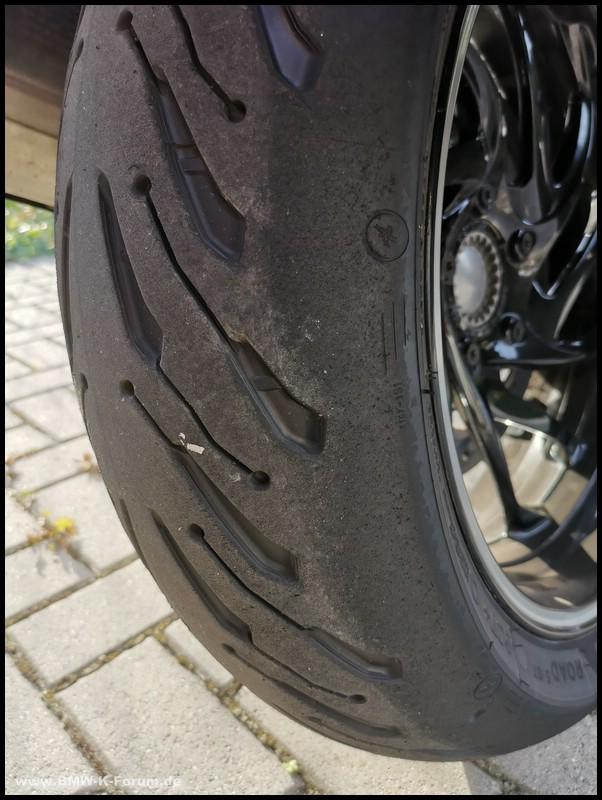 Hinterrad - Michelin Road 5 GT - eingefahren
