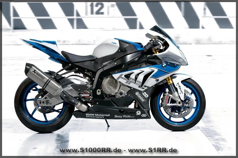 DIE BMW-HP4 - S1000RR in Lightweiss - Racingblue - Saphirschwarz